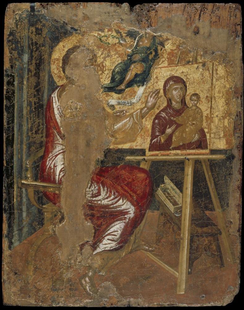 Ο Ευαγγελιστής Λουκάς ζωγραφίζει εικόνα της Θεοτόκου - Μουσείο Μπενάκη