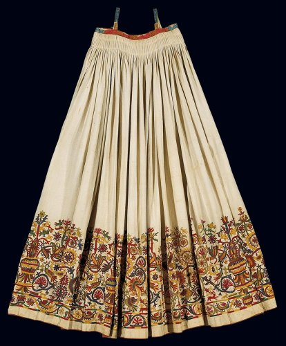 16535482a2cf Πολύπτυχο βαμβακερό φουστάνι - Μουσείο Μπενάκη
