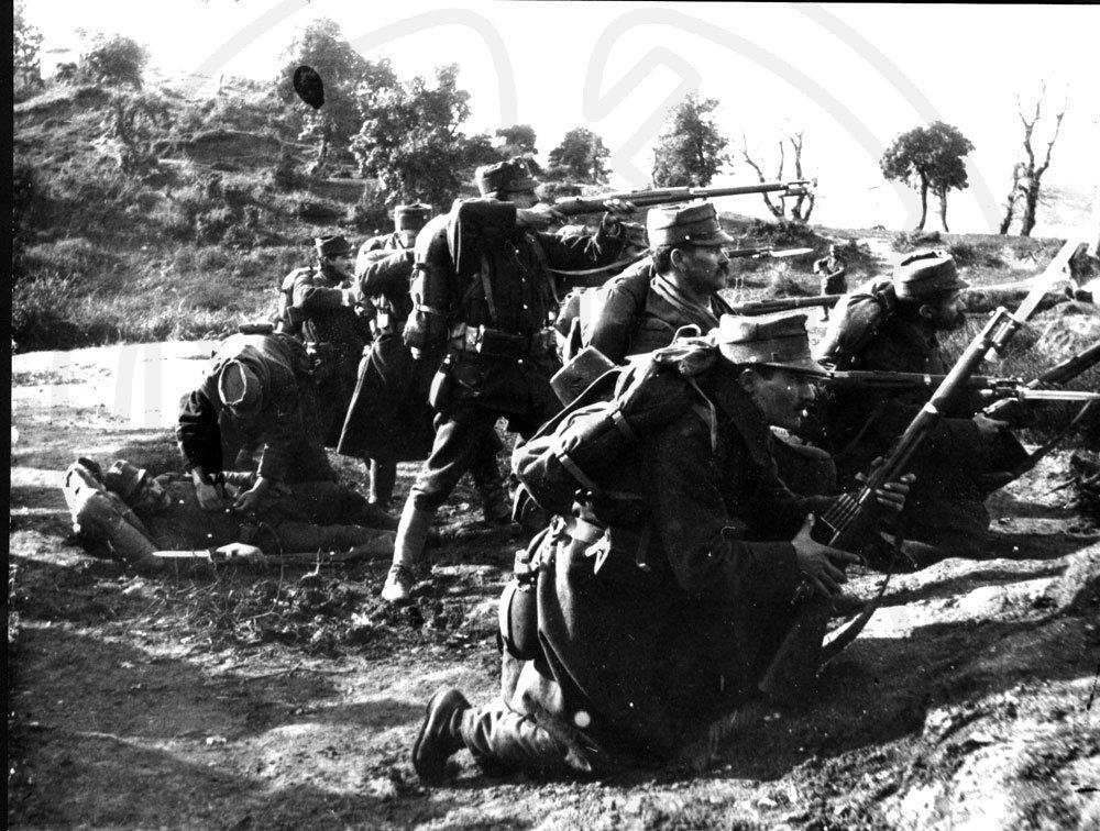 Φωτογραφία από τη μάχη του Σαρανταπόρου - Μουσείο Μπενάκη